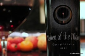 Valley of the Moon Sangiovese guarding fruit