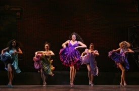 Karen Olivo as Anita and The Shark Girls from the Broadway Company Photo by Joan Marcus