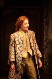 Maggie Mason playing Nell Gwynne in Or, at Magic Theatre. Written by Liz Duffy Adams, directed by Loretta Greco. Photo by Jennifer Reiley.