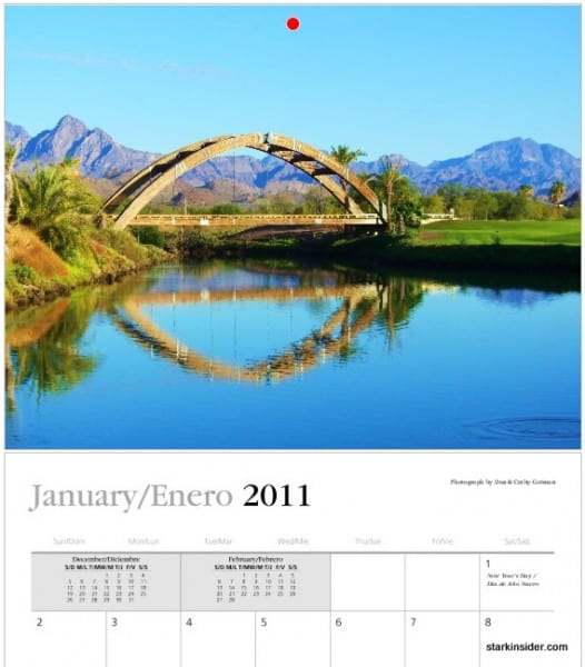2011 Loreto Calendar (January)