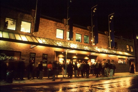 The exterior of the Thrust Stage at the Tony Award-winning Berkeley Repertory Theatre. Photographer: Charles Frizzell