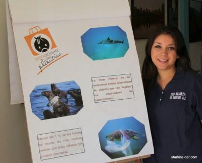 Edna, administrator of Eco Alianza's children's environmental education programs.