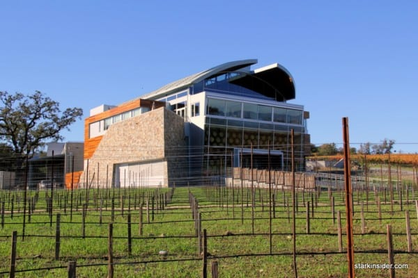 The brand new Williams Selyem tasting room and production facility in Sonoma. Barrel-inspired design.