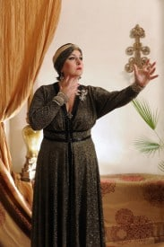 "Pictured above is Annmarie Martin in the role of Norma Desmond in Palo Alto Players upcoming production of ""Sunset Boulevard"" playing November 5th to 21st.  Call 650-329-0891 or www.paplayers.org for details.  Photo courtesy of Joyce Goldschmid."