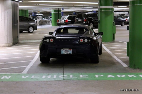 Tesla - SFO Green Vehicle Parking