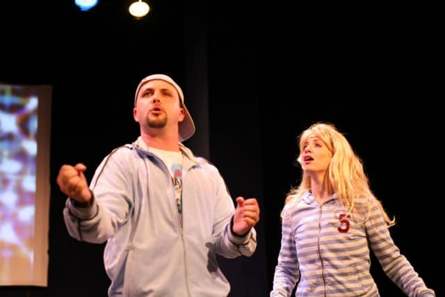 Keith Pinto, Molly Bell In the Fringe NYC production Photo credit: Dixie Sheridan