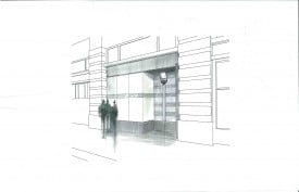 Frey Norris - Exterior Perspective w Signage