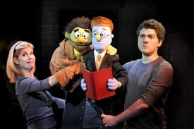 Avenue Q - Kerri Brackin, Nicky, Rod, Brent Michael DiRoma  Photo by John Daughtry