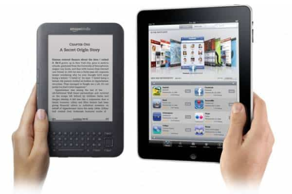 Amazon Kindle 2 and Apple iPad