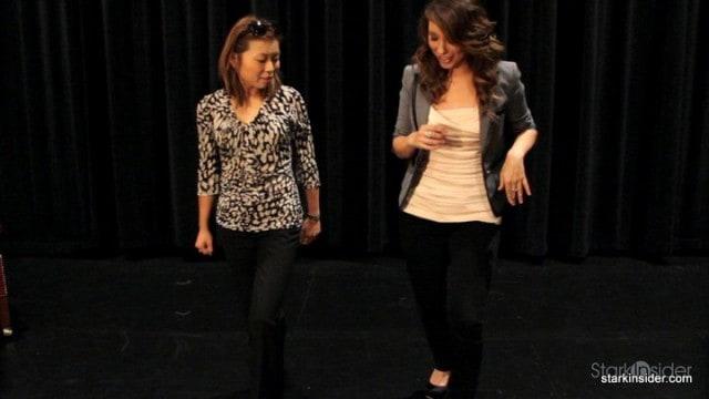 Cheryl Burke teaches Loni a step.