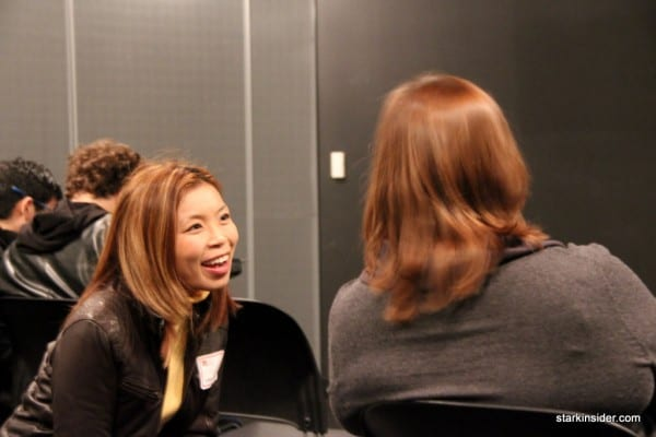 Loni Kao of Stark Insider shares a laugh with Steve Woniak's wife Janet, who works at Apple.