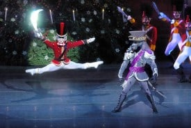 "Act I, scene 3 ""A Curious Combat"" from Dennis Nahat's The Nutcracker, presented by Ballet San Jose."