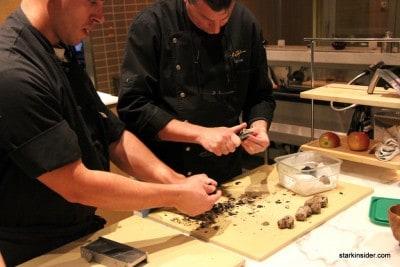 Ken Frank preparing some truffles.