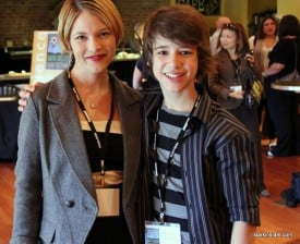Actors Nicki Aycox and Uriah Shelton, attend launch celebration and screening of their film, Lifted.