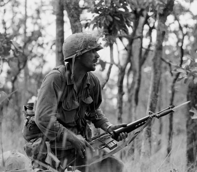 Rick Rescorla, Vietnam 1965 Photo by Peter Arnett/AP