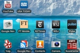 News apps on Android Tablet