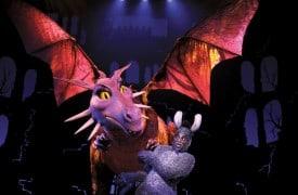 Dragon and Alan Mingo, Jr.  Photo by Joan Marcus