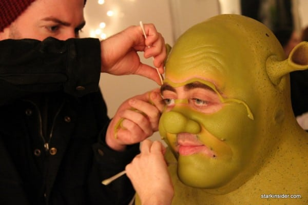 It's not easy being green. The makeup effects are film caliber.