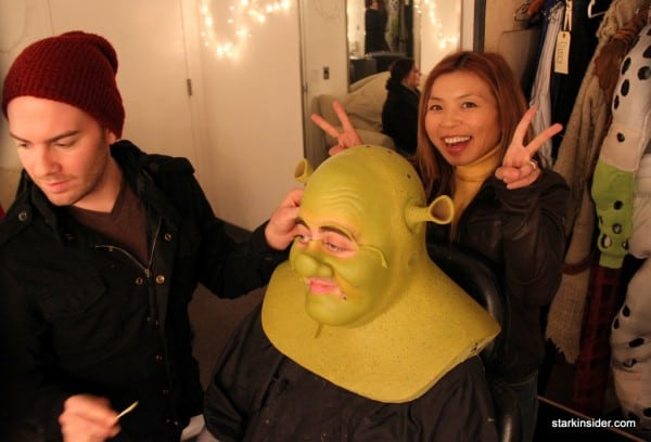 It takes 2 hours before every performance to transform actor Eric Petersen into the real life version of everyone's favorite Ogre.