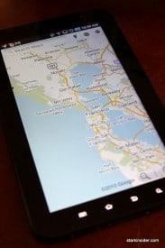 Thumbs Up: Google Maps on Galaxy Tab.