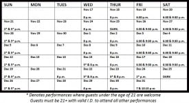 Beach Blanket Babylon Holiday Schedule