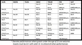 Beach Blanket Babylon Holiday Schedule