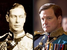 Colin Firth plays King George VI