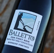 Balletto Vineyards 2008 Pinot Noir, Russian River Valley, Sonoma County