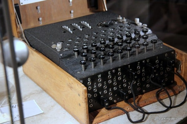 Break the code! An Enigma machine, an electro-mechanical rotor machines used for the encryption and decryption of secret messages. Used most notably by Nazi Germany during World War II.