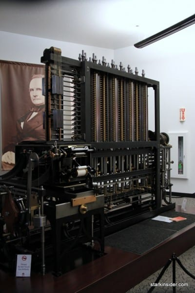 Charles Babbage Difference Engine: 1 of 2 in the world. Charles would be pleased to know his design worked.
