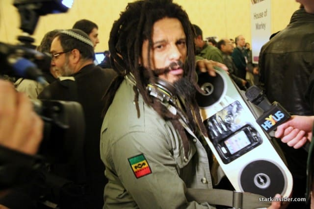 Former Ottawa Rough Rider Rohan Marley... what is he promoting?