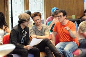 Billie Joe Armstrong and Mike Dirnt of the Grammy-winning band Green Day talk to Tony Award-winning director Michael Mayer as they collaborate on the stage version of American Idiot