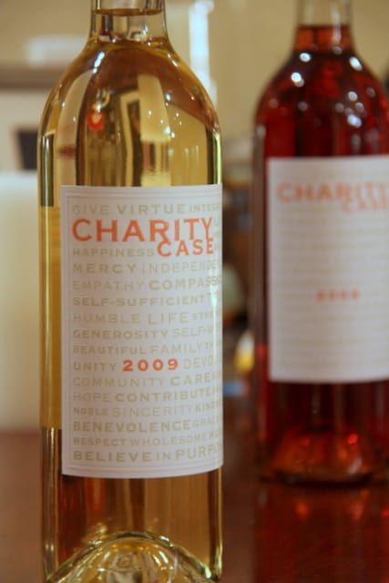 Charity Case Foundation wine - '09 Sauvignon Blanc and '08 Rose