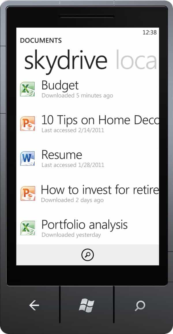 Windows Phone7 Office