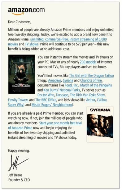 Amazon Prime Movie Streaming