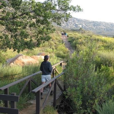 Starting hike at Rancho La Puerta