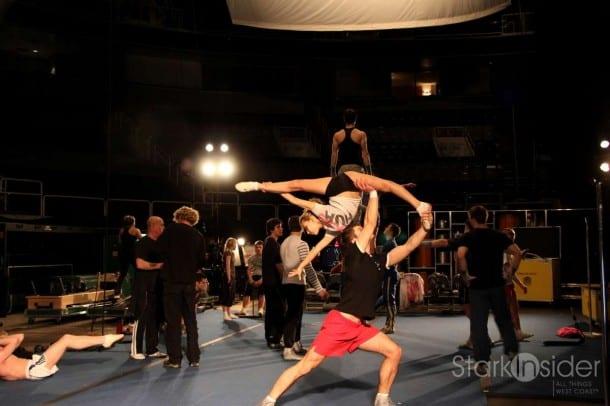 Cirque du Soleil Training at HP Pavilion