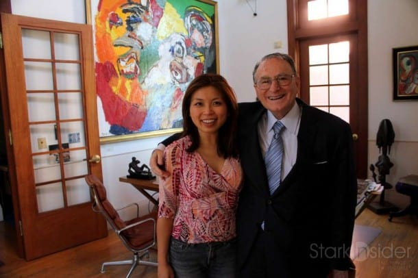 In Jan Shrem's office at Clos Pegase.