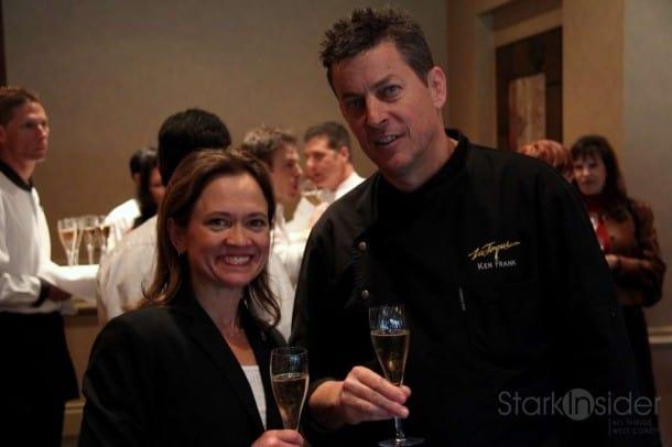 Master Sommelier Andrea Robinson and Chef Ken Frank (La Toque)
