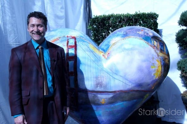 """Artist Jeremy Sutton with his heart """"Classic San Francisco"""""""