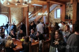 When the rain came, we crowded into the refurbished Ehlers tasting room.