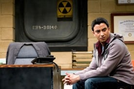 Khadim (Adam Poss) in THE NORTH POOL, a  world premiere by Rajiv Joseph. Presented by TheatreWorks, the nationally acclaimed theatre of Silicon Valley.