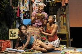 Zainab Jah, Carla Duren and Pascale Armand star in Ruined, a powerful new play by Lynn Nottage that won the Pulitzer Prize for Drama.