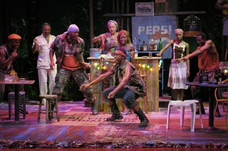 At Berkeley Rep, a cast of accomplished actors star in Ruined, a powerful new play by Lynn Nottage that won the Pulitzer Prize for Drama. Photo courtesy of kevinberne.com