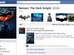 The Dark Knight on Facebook