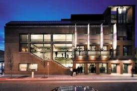 The exterior of the Roda Theatre at the Tony Award-winning Berkeley Repertory Theatre.