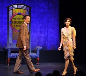 """Lost in their own worlds, Joan (Samantha Bruce) and Jim (Michael Scott Wells) reveal their romantic longings in the classic Gershwin song """"The Man I Love (The Girl I Love)"""" in  Strike Up the Band."""