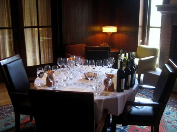 Ready to taste a flight at the Franciscan Estate - this room is a gorgeous, quiet place to do some serious tasting.