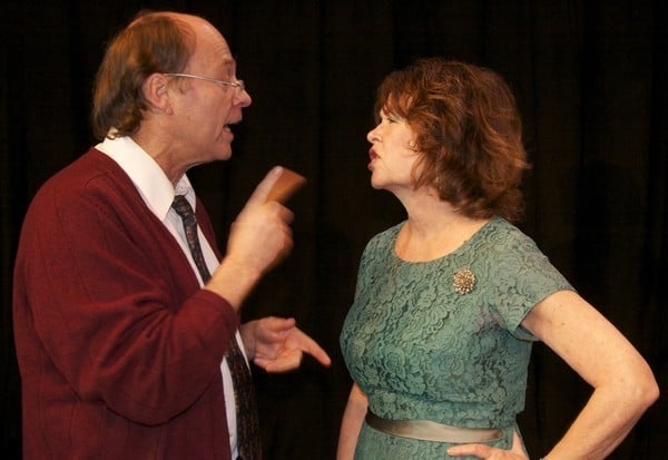 Tom Woosnam and Pennell Chapin in Coastal Rep's production of Who's Afraid of Virginia Woolf?