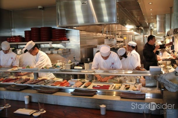 The kitchen at Morimoto Napa.